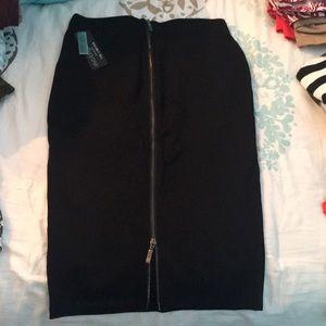 Eva Longoria ponte pencil skirt, zipper back, NWT
